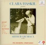 MOZART - Haskil - Concerto pour piano et orchestre n°23 en la majeur K.4