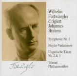 BRAHMS - Furtwängler - Symphonie n°1 pour orchestre en do mineur op.68