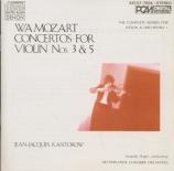 MOZART - Hager - Concerto pour violon et orchestre n°5 en la majeur K.21