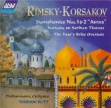 RIMSKY-KORSAKOV - Butt - Symphonie n°1 op.1
