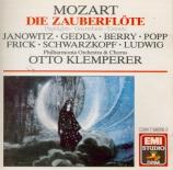 MOZART - Klemperer - Flûte enchantée (La) K.620 : extraits