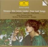 STRAUSS - Tomowa-Sintow - Vier letzte Lieder (Quatre derniers lieder), p