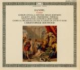 HAENDEL - Hogwood - Esther, oratorio en 3 actes HWV.50b