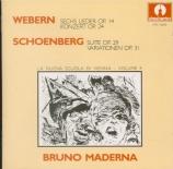 Suite op.29 - Variations op.31 - 6 lieder op.24