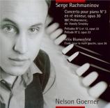 RACHMANINOV - Goerner - Concerto pour piano n°3 en ré mineur op.30