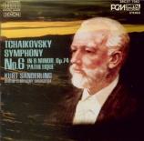 TCHAIKOVSKY - Sanderling - Symphonie n°6 en si mineur op.74 'Pathétique' import Japon