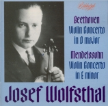 BEETHOVEN - Wolfsthal - Concerto pour violon op.61