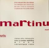 MARTINU - Trio à cordes M - Trio à cordes n°2 H.238