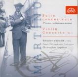 MARTINU - Hogwood - Suite concertante pour violon et orchestre H.276