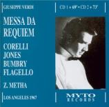 VERDI - Mehta - Messa da requiem, pour quatre voix solo, choeur, et orche live Los Angelès 14 - 11 - 1967 + Récital Corelli