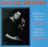 BEETHOVEN - Menges - Sonate pour violon et piano n°9 op.47 'Kreutzer'
