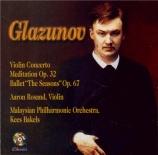 GLAZUNOV - Bakels - Concerto pour violon op.82