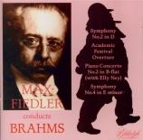 BRAHMS - Fiedler - Symphonie n°2 pour orchestre en ré majeur op.73