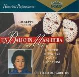 VERDI - De Fabritiis - Un ballo in maschera (Un bal masqué), opéra en tr Live Bologna, 28 - 11 - 1961