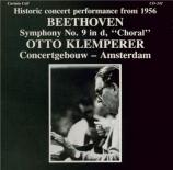 BEETHOVEN - Klemperer - Symphonie n°9 op.125 'Ode à la joie'