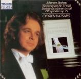 BRAHMS - Katsaris - Sonate pour piano n°3 en fa mineur op.5