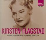 German Lieder, Norvegian Radio 1954