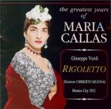 VERDI - Mugnai - Rigoletto, opéra en trois actes live Mexico 17 - 6 - 1952