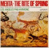 STRAVINSKY - Mehta - Le sacre du printemps, ballet pour orchestre Import Japon