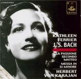 BACH - Ferrier - Passion selon St Matthieu BWV 244 : extraits live Wien 1950