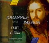 BACH - Rilling - Passion selon St Jean(Johannes-Passion), pour solistes