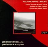 RACHMANINOV - Pernoo - Sonate pour violoncelle et piano op.19