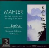 MAHLER - Oue - Das Lied von der Erde (Le chant de la terre), pour ténor