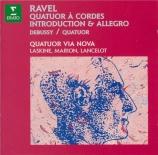 RAVEL - Quatuor Via Nov - Quatuor à cordes en fa majeur