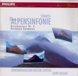 STRAUSS - Masur - Eine Alpensinfonie, pour grand orchestre op.64