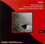 GRIEG - Propper - Holberg suite op.40 : version pour piano