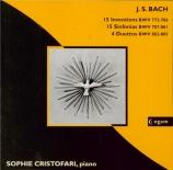 BACH - Cristofari - Inventions à 2 voix BWV 772-786
