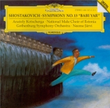 CHOSTAKOVITCH - Järvi - Symphonie n°13 op.113 'Babi-Yar'