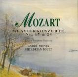 MOZART - Previn - Concerto pour piano et orchestre n°17 en sol majeur K