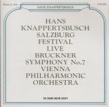 BRUCKNER - Knappertsbusch - Symphonie n°7 en mi majeur WAB 107