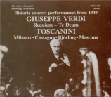 VERDI - Toscanini - Messa da requiem, pour quatre voix solo, chœur, et o