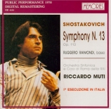 CHOSTAKOVITCH - Muti - Symphonie n°13 op.113 'Babi-Yar'
