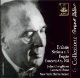 BRAHMS - Walter - Double concerto pour violon et violoncelle op.10