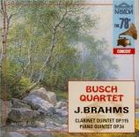 BRAHMS - Busch Quartet - Quintette avec clarinette ou alto et cordes en
