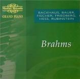 Brahms (rouleaux Duo-Art)