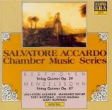 BEETHOVEN - Accardo - Quintette à cordes n°2 op.29