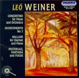 WEINER - Berkes - Concertino pour piano et orchestre op.15