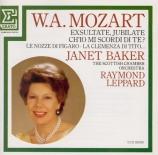 MOZART - Baker - Vado, ma dove? - oh Dei!, air pour soprano et orchestre