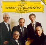 NONO - LaSalle Quartet - Fragmente-Stille, an Diotima