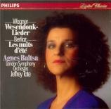 WAGNER - Baltsa - Wesendonck-Lieder, pour voix et piano WWV.91a : arrang