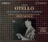 VERDI - Busch - Otello, opéra en quatre actes (live MET 18 - 12 - 1948) live MET 18 - 12 - 1948