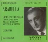 STRAUSS - Krauss - Arabella, opéra op.79 (live Salzburg, 9 - 8 - 1942) live Salzburg, 9 - 8 - 1942
