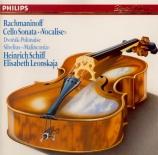 RACHMANINOV - Schiff - Sonate pour violoncelle et piano en sol mineur op