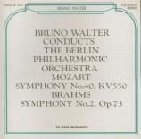 MOZART - Walter - Symphonie n°40 en sol mineur K.550 import Japon live Berlin 25 - 9 - 1950