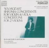 MOZART - Kantorow - Sinfonia concertante pour violon, alto et orchestre