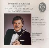 BRAHMS - Dangain - Sonate pour clarinette et piano n°1 op.120-1